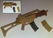 """TAN """"Basic"""" COMMANDO Assault Rifle-1:18 Scale Weapon for 3-3/4"""" Action Figures"""