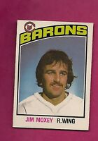 1976-77 OPC # 349 BARONS JIM MOXEY   ROOKIE NRMT-MT CARD (INV# 9332)