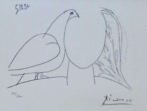 PABLO PICASSO Visage de la Paix 50 I HAND NUMBERED 945/2000 signed LITHO