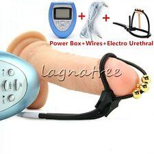 Corona Electro Urethral Sound Stretching Plug Male Chastity Device W/ Power Box