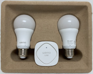 Belkin Wemo LED Lighting Starter Set - Smart Home Kit - Smart Light Bulbs F5Z048