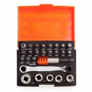 Bahco BAH2058S26 2058/S26 Ratchet Socket Bit Set 26-Piece