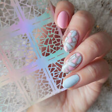 12Tips/Sheet Nail Art Vinyls Irregular Triangle Manicure Stencil Sticker #206