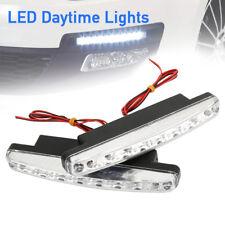 2X 8 LED luces de marcha diurna coche conducción DRL niebla lámpara blanco 12V