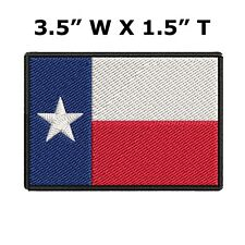 "Texas State Flag Iron On Patch Lone Star State 3 1/2"" Sew-On Gear Applique"