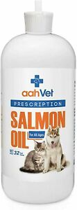 aahVet Pure Wild Alaskan Salmon Fish Oil for Dogs & Cats - 32 fl.oz - 01/2023