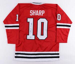 Patrick Sharp Signed Chicago Blackhawk Jersey (Beckett Holo) 3xStanley Cup Champ