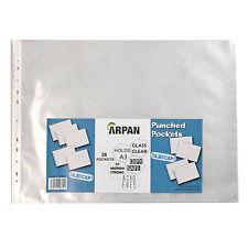 Arpan A3 paysage plastique poly pochettes perforées 26 portefeuille/manches
