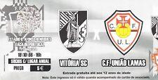 Ticket - Vitoria Sport Clube v CF Uniao Lamas 18.10.2008