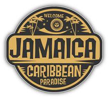 "Jamaica Caribbean Paradise Car Bumper Sticker Decal 5"" x 5"""