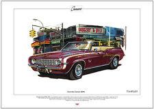 CHEVROLET CAMARO SS396 - Fine Art Print - A3 size - 1969 Super Sport Convertible