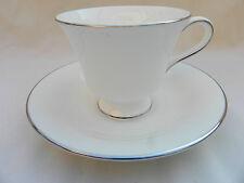 WEDGWOOD ARGENTO ERMINE Tazza da té e piattino, r4452.
