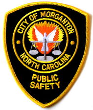MORGANTON – PUBLIC SAFETY - NORTH CAROLINA NC Sheriff Police Patch ANGEL SCALE ~