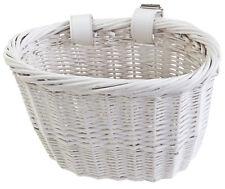 Sunlite Mini Willow Bushel Bicycle Bike Basket White Smart Solution