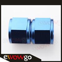 AN-8 AN8 8AN Female To Female Adapter Fitting Adaptor Aluminum Blue