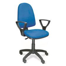 Sedia ufficio direzionale girevole In tessuto blu con ruote