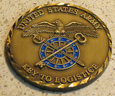 """United States Army Key to Logistics - error/misprint """"logistice"""" challenge coin"""