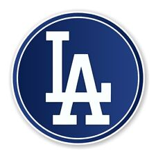 Los Angeles Dodgers Round Decal / Sticker Die cut