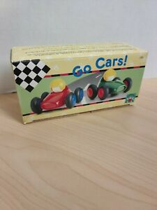 Vintage 1993 Discovery Toys Go Cars! Toddler Race Car Toy Set