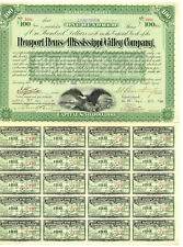 Newport News and Mississippi Valley Stock Certificate ITASB Collis P. Huntington