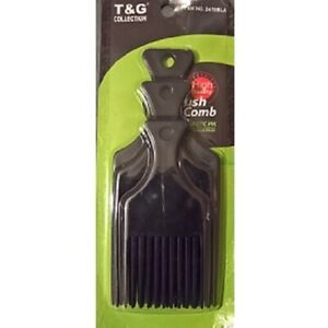 T&G COLLECTION STYLING BLACK AFRO PIK COMB SET *TG2470BLA* *3 in a Pack*