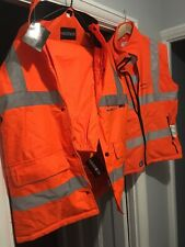 High Visibility Jacket, Trousers & Body Warmer Vest Bodyguard Workwear (Large)