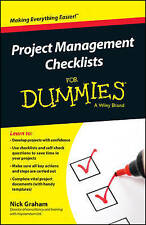 Project Management Checklists For Dummies  BOOK NEW