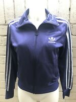Woman's Adidas Originals Track Top Size 12 Ladies Jacket Purple / White Casual