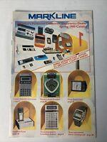 MARKLINE CATALOG, Spring 1980 Consumer Electronics, Watches Games, toys