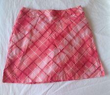Ativa Golf Skirt Womens Size10 Skort Pink Coral Tennis Athletic Side slit