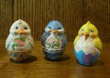 """Jim Shore Heartwood Creek Minis 6004766 Critter Eggs """"Chick, Bluebird, Duck"""" 2.5"""