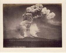 GF057 Naples éruption du Vésuve du 28 avril 1872 albumen vintage print