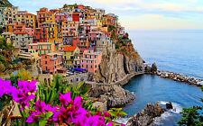 Stampa incorniciata-Villaggio Costiero BELLISSIMO di Manarola ITALIA (SCENIC Foto Art)
