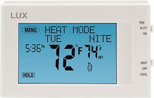 NEW Lux TX9600TS Touchscreen Programmable Thermostat (2nd Generation) - White