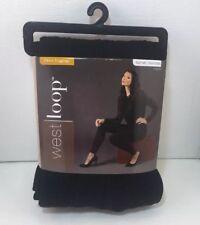 WestLoop Womans Leggings sz L XL 12 14 16 Black Textured Fleece Yoga High Waist