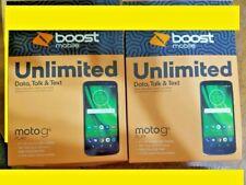 2 NEW Boost Mobil Motorola Moto G6 Play 6th Generation - 16GB