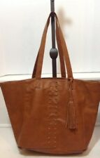 ABERCROMBIE & FITCH FAUX LEATHER TOTE BAG SHOULDER STRAPS BAG BROWN