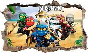 LEGO NINJAGO 3D WALL STICKER
