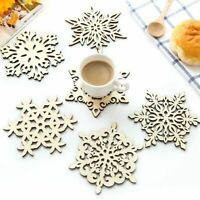 Place Mats Non-slip Drink Cup Pads Wooden Coasters Lovely Dining Table Mat 5 Pcs