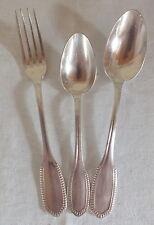 couvert cadet 3 pièces métal argenté modèle perles spoons fork