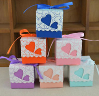 30x Pillow Favor Gift Box Wedding Party Favour PVC Sugar Snack Sweet Boxes Newly
