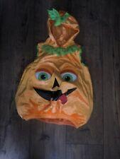 3-4 years Unisex Pumpkin costume haloween In Orange, Light Up Eyes