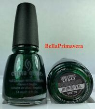 China Glaze Nail Polish Emerald Sparkle 28843 Shimmering Green Sparkle Lacquer