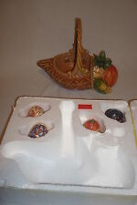 "Jim Shore ""Hwood Creek Bounty of Blessing Autumn Cornacopia Basket 4031690 MIB"