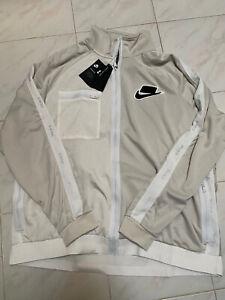 Nike Sportswear Mens Track Jacket Light Bone Size XXL-Tall BV4603-073 New