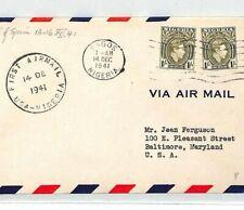 NIGERIA 1941 FFC Lagos First Flight Cover Air Mail Baltimore USA {samwells}BL68