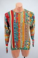 VTG 90s COOGI Australia McGregor Cosby BIGGIE sweater Button Pocket Sz L