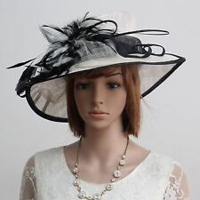 New Sinamay Woman Church Kentucky Derby Wedding Cocktail Party Dress Hat 174899