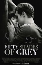 Jamie Dornan & Dakota Johnson Signed Fifty Shades Of Grey 11x17 Movie Poster