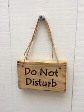 Handmade Rustic Wooden Do Not Disturb Office Hotel Bedroom Bathroom Door Sign